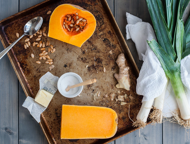 Ingredients for the only butternut squash soup recipe you'll ever need.