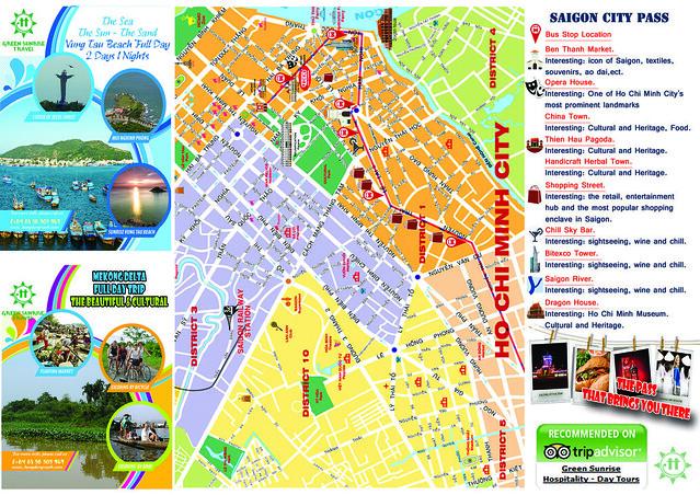 Ho Chi Minh Map; Saigon City Map