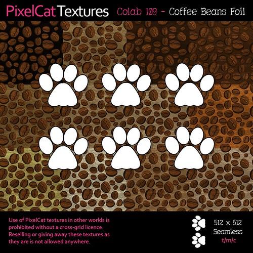 PixelCat Textures - Colab 109 - Coffee Beans Foil