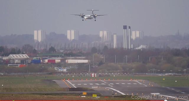 Aterrizaje cruzado en BHX