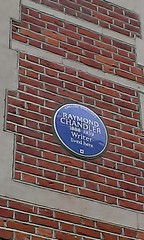 Photo of Raymond T. Chandler blue plaque