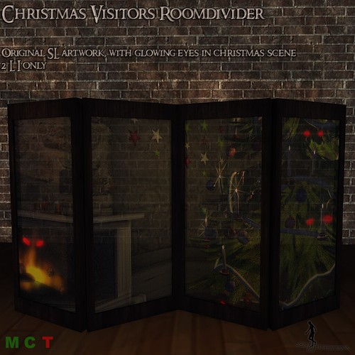 Christmas Visitors Roomdivider