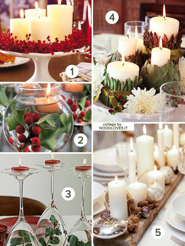 Candele per la tavola di Natale