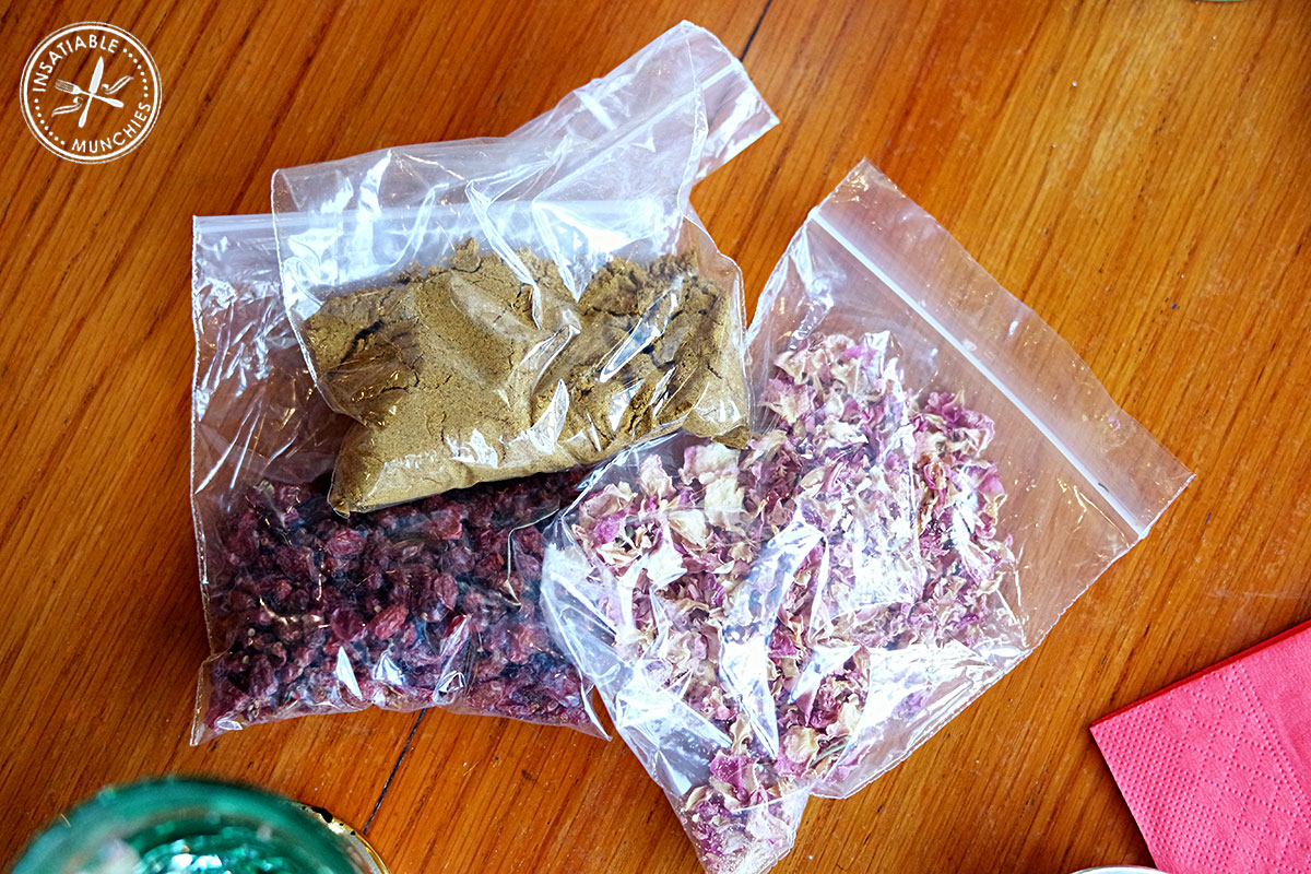 Persian spice mix, barberries and dried roses to bring home.