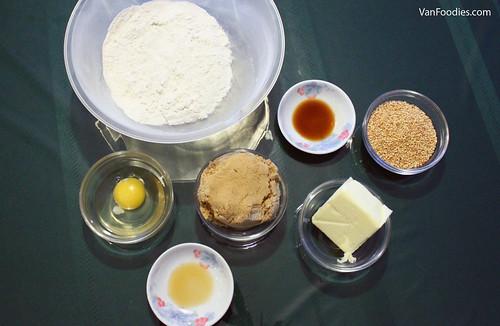 Ingredients for Sesame Cookies