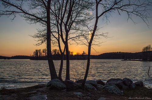 autumn trees sunset lake fall water evening nikon paintedsky waywayandastatepark waywayanda d3100 smack53