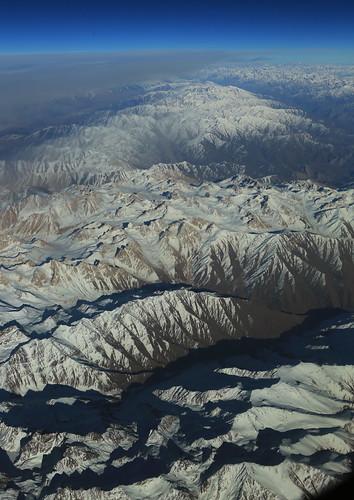 afghanistan mountains plane landscape aerial windowseat hindukush
