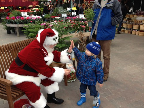 Meeting Santa - High Five