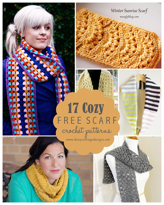 17 Free Scarf Crochet Patterns