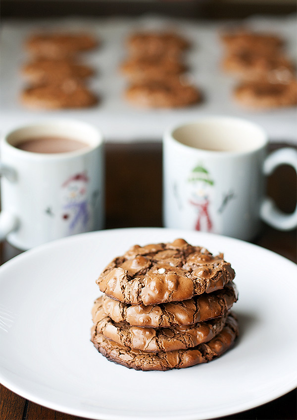 easy holiday baking   flourless hot cocoa cookies