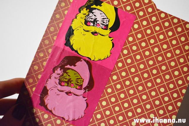 December Journal Detail: Pink Santas