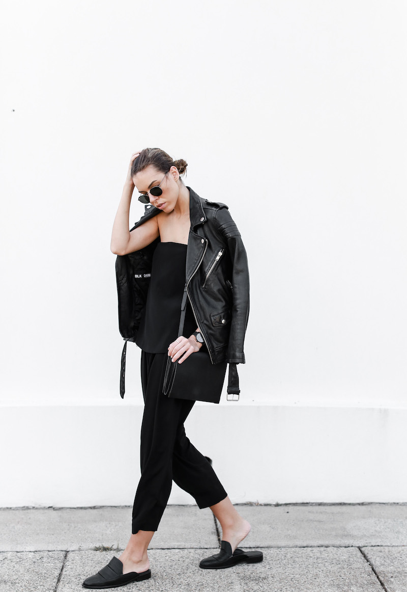 MODERN LEGACY fashion blog Australia all black minimalist street style Matches Fashion BLK DNM leather biker jacket (3 of 9)