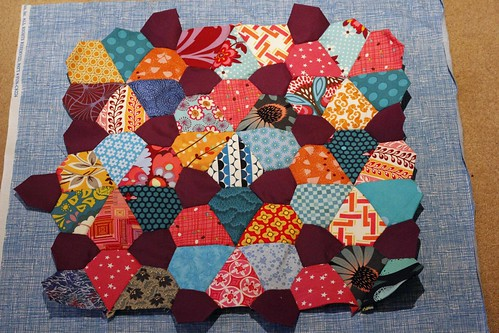 Cushion top piecing done
