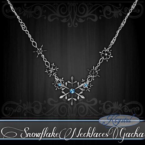 Snowflake Necklaces Ad