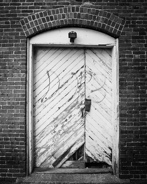 Old Mill Door - Monochrome