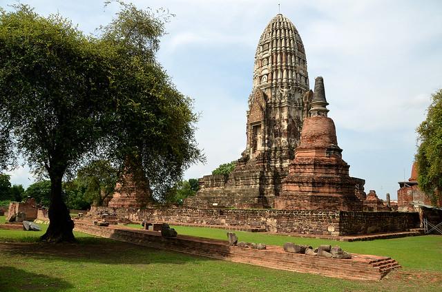 Uno de los templos más espectaculares de la ciudad antigua de Ayutthaya