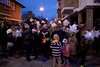 Children gather for the start of the lantern procession through Teddington on the 14 of December 2014
