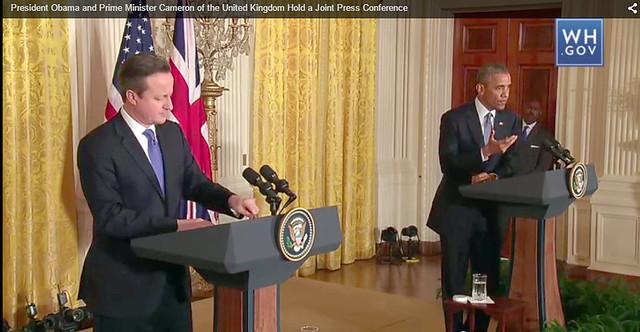 Obama y Cameron en conferencia sobre Ciberdefensa