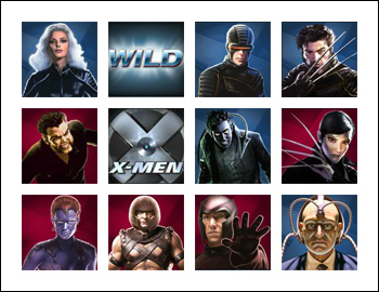 free X-Men 50 Line slot game symbols