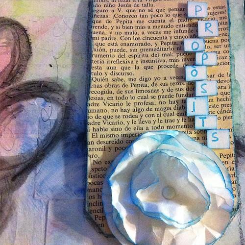 Detall pàgina 1 gener  #dlp2015 Projecte 2015-The Journal #artjournal #mixedmedia #arttothe5th