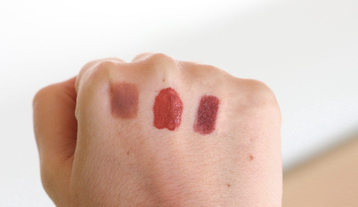 brown lipstick swatches