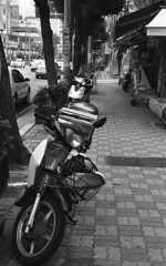 A Motorbike on Bosu Book Street, Busan