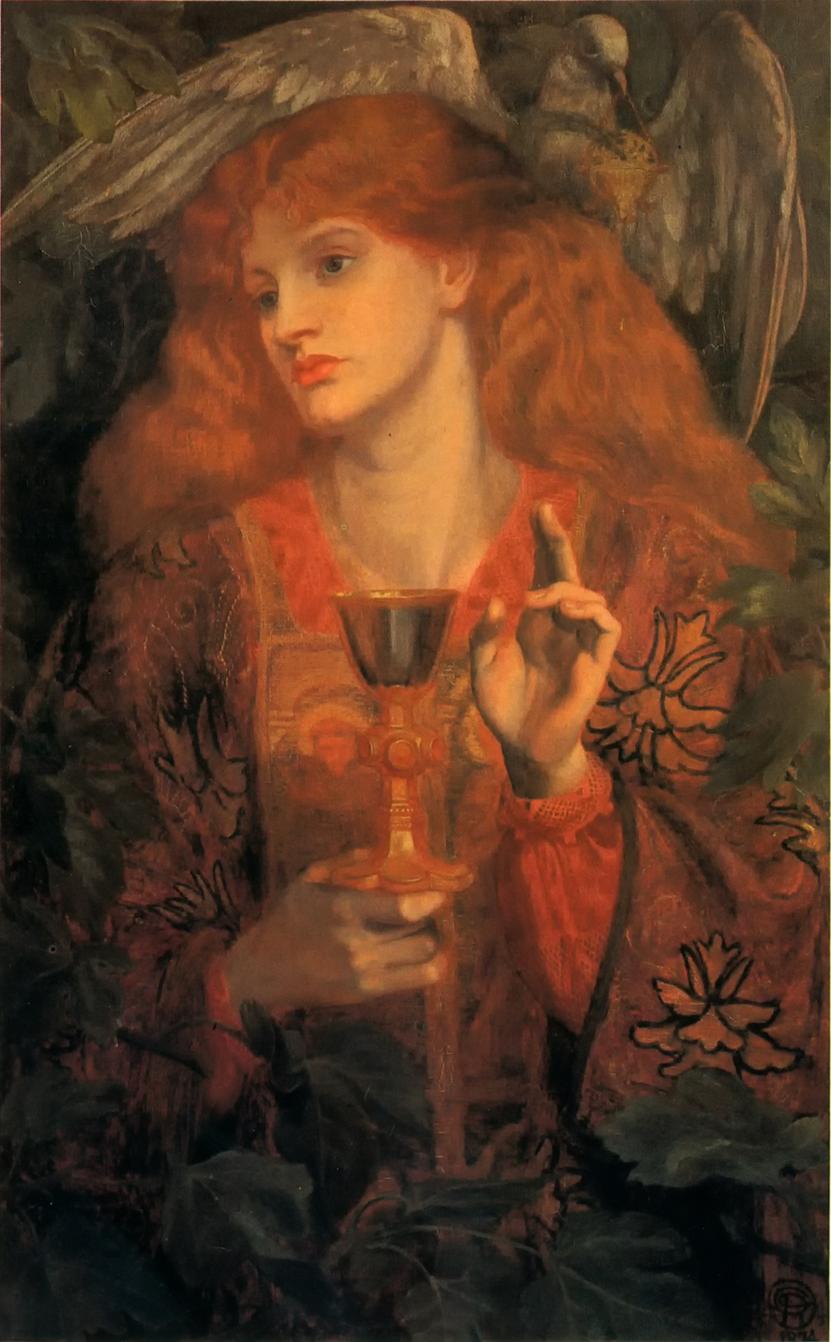 Damsel of the Sanct Grael by Dante Gabriel Rossetti - 1874