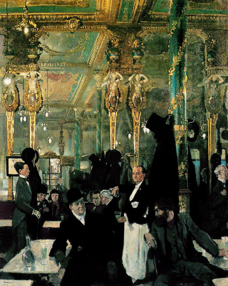 The Cafe Royal, London by Sir William Orpen, R.A., R.H.A. - 1912