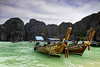 The Long Tail Boat - Front View, James Bond Island, Thailand