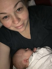 2 weeks today!! Life's tough when you're two weeks old #soinlove #sleepdeprived #nomakeup #nofilter :blue_heart::baby::heart_eyes::blue_heart: