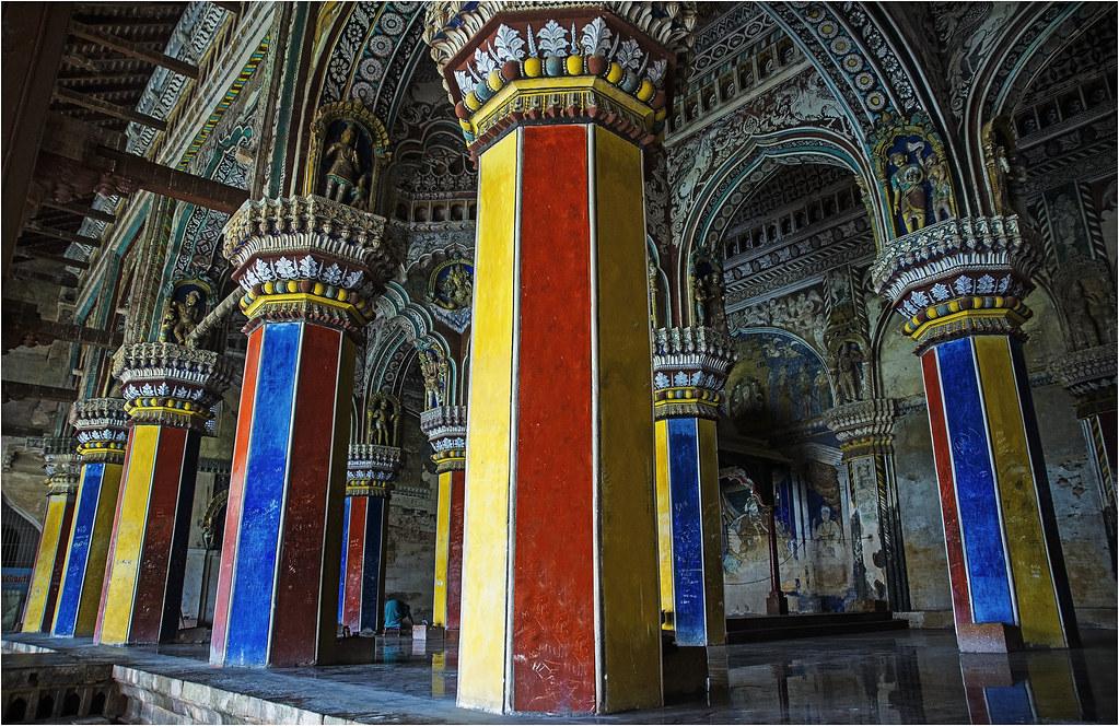 Colourful Thanjavur Palace. Tamilnadu. India