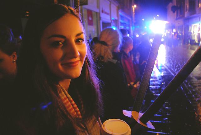 Lauren next to Parade