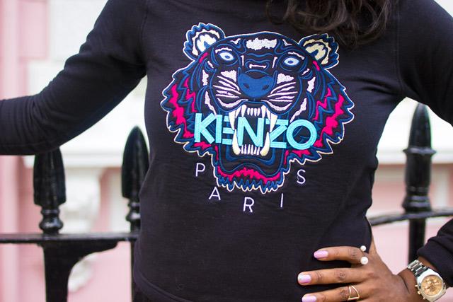 Wearing a Kenzo kids jumper