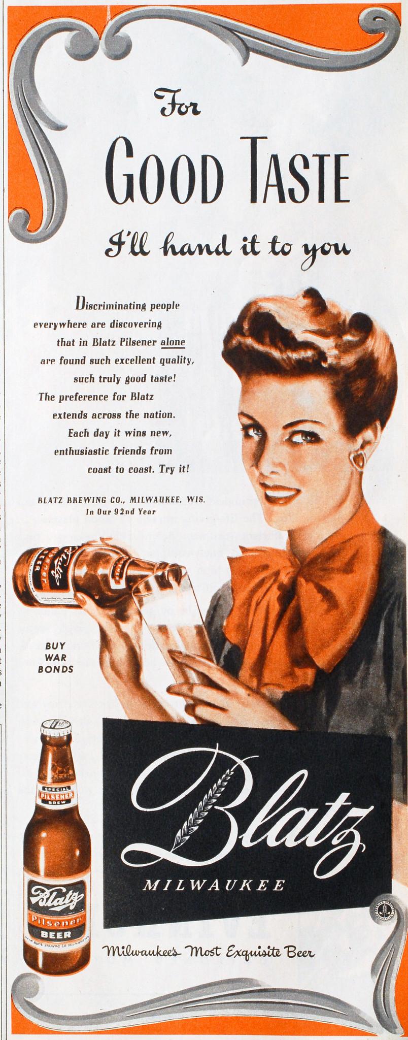 Blatz-1943-good-taste