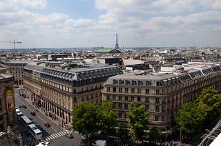 Vue sur le Sud Ouest de Paris depuis la terrasse des Galeries Lafayette