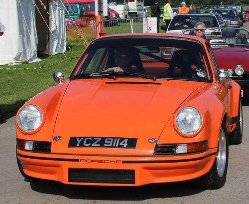 Classic Porsche arriving at Tatton Park Classic Car Spectacular