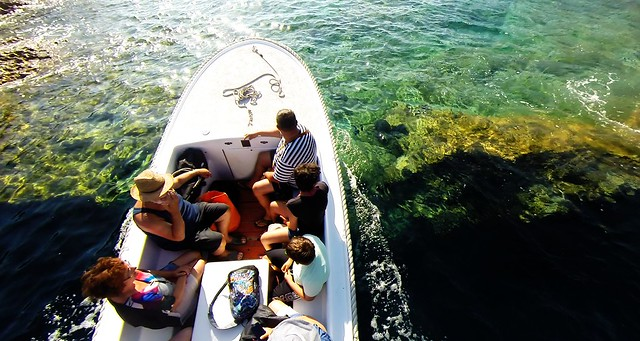 Blue Cave, boat transfer, island Bisevo, Croatia