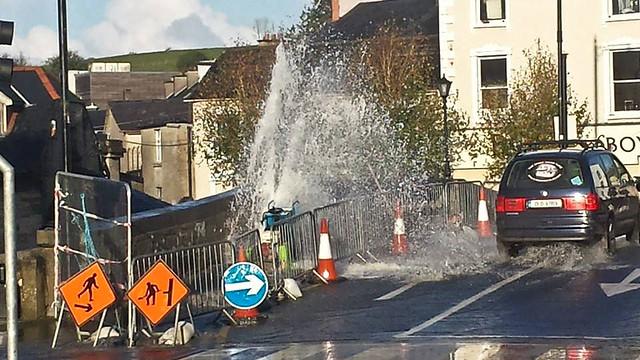 Burst Water Pipe on Boyle Bridge