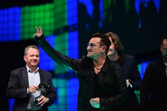 Bono besökte Web Summit i Dublin, 2014 (foto: Web Summit/Creative Commons)