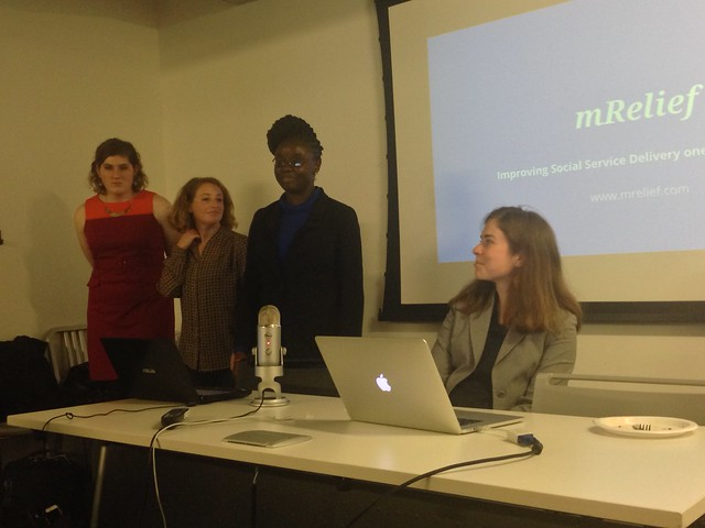 MRelief team demonstrates social services-finding app