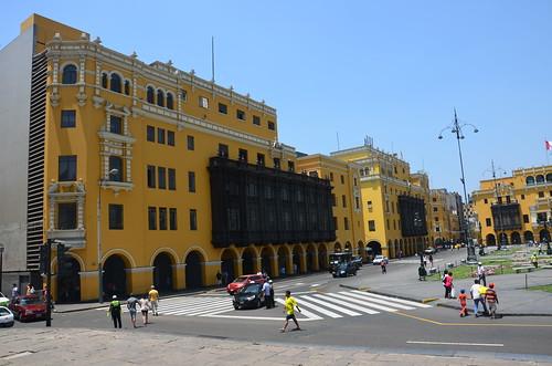 Blick auf die Balkone Limas