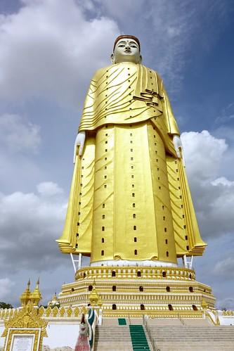 Huge Buddha at Bodhi Tataung Monywa Myanmar