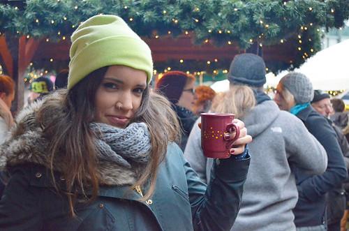 Belén en el Weihnachtsmarkt de Hamburgo - glühwein