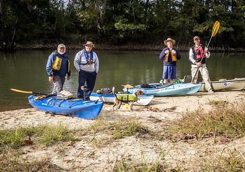Savannah River from Stokes Bluff with LCU Nov 7, 2014, 4-18 PM Nov 8, 2014, 9-11 AM