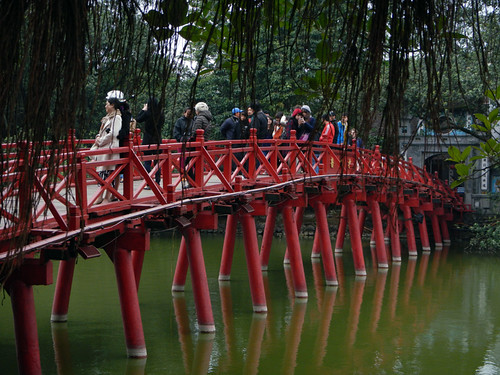 The red bridge in Hanoi, Vietnam