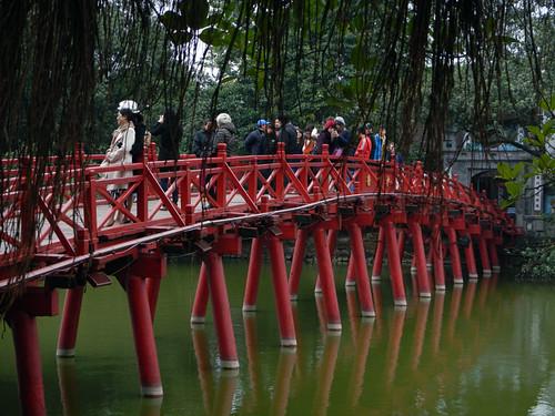 The red bridge in Hanoi, Vietnam