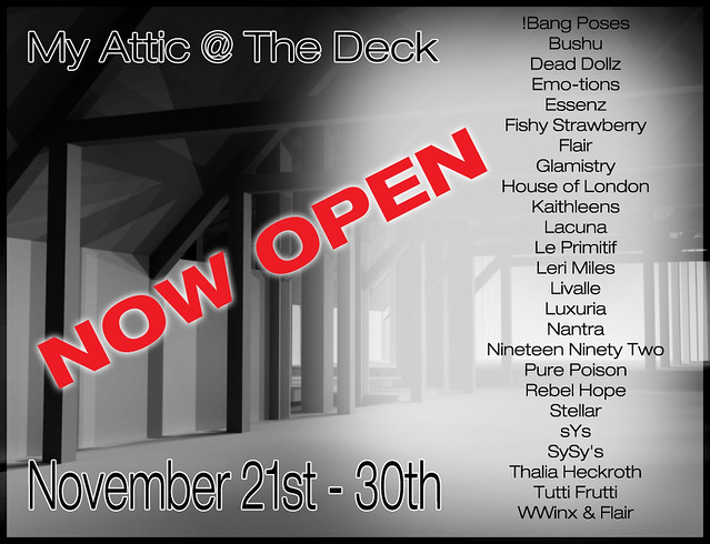 My Attic - November - Now Open
