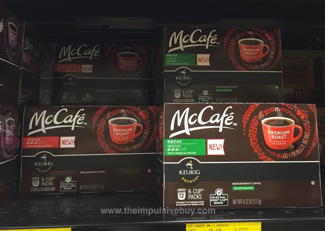 McCafe Medium and Decaf Premium Roast K-Cups