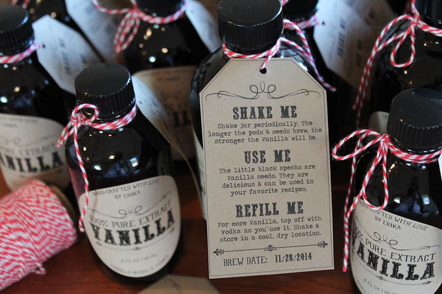 Free Homemade Vanilla Label Printable