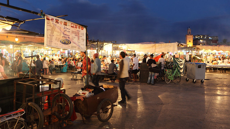 Food stalls of Jemaa el-Fnaa